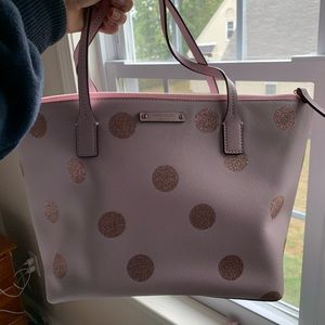 Kate Spade Glitter Polka Dot Tote - never used